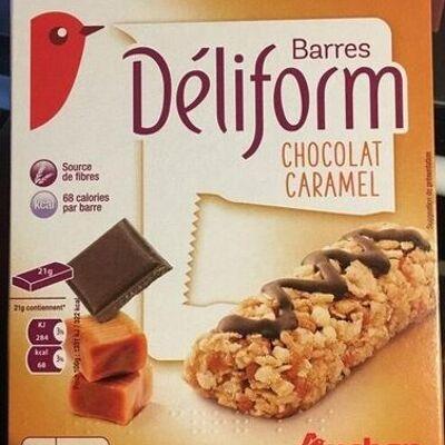 Barres déliform chocolat caramel (Auchan)