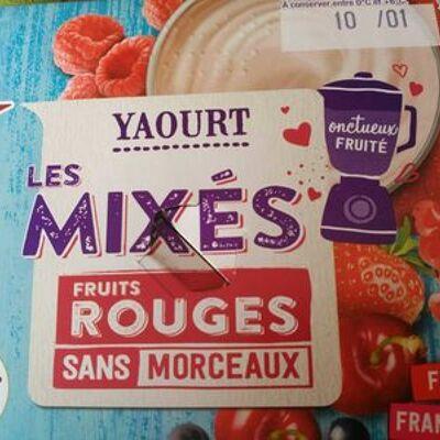 Yaourt les mixés fruits rouges (Auchan)