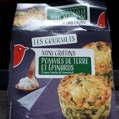 Mini gratin pommes de terre épinards (Auchan)