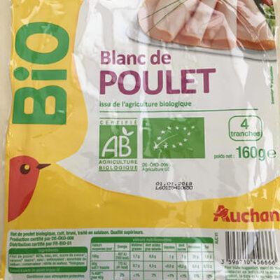 Blanc de poulet issu de l'agriculture biologique (Auchan)