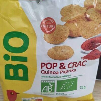 Pop & crac - quinoa paprika (Auchan)