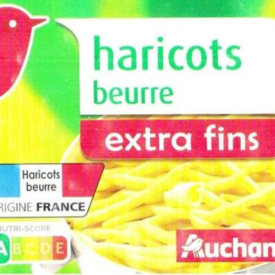 Haricots beurre extra fins (Auchan)