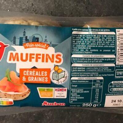 Muffin céréales et graines (Auchan)