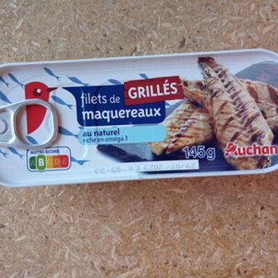 Filets de maquereaux grillés au naturel (Auchan)