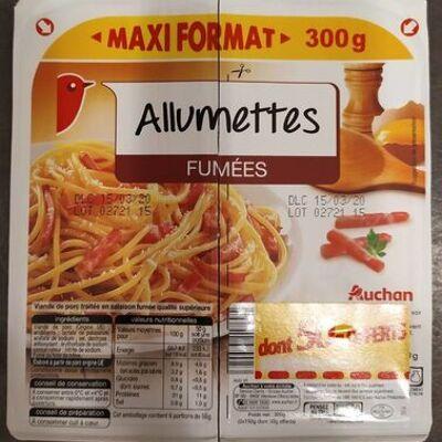 Allumettes fumées (maxi format) (Auchan)