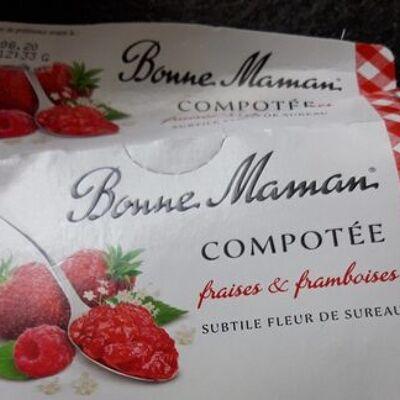 Compotée fraises & framboises (Bonne maman)