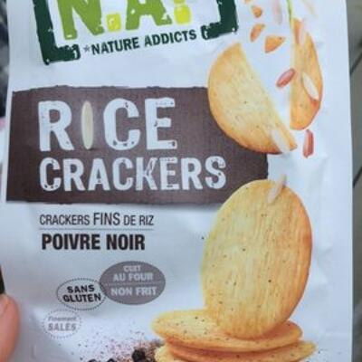 Rice crackers poivre noir (Nature addicts)