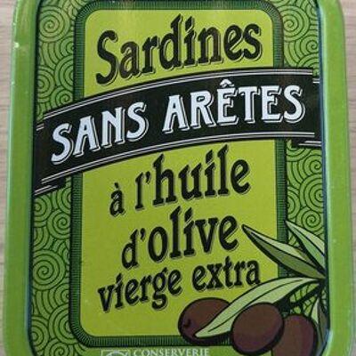 Sardines sans arêtes à l'huile d'olive vierge extra (La belle iloise)