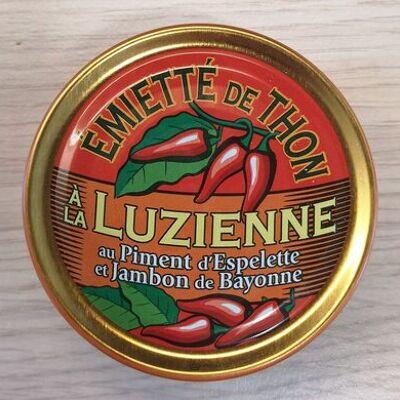 Emietté de thon à la luzienne (piment d'espelette, jambon de bayonne) (La belle-iloise)