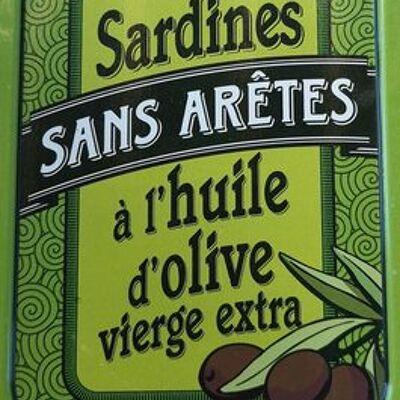 Sardines sans arêtes à l'huile d'olive (La belle-iloise)