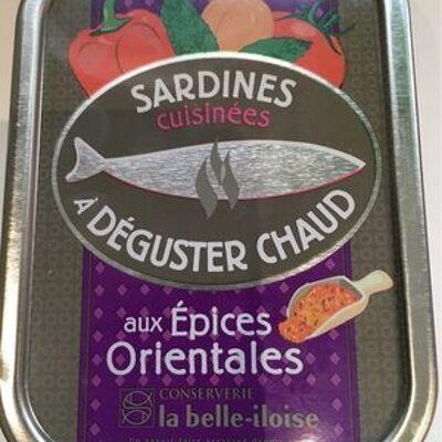 Sardines cuisinées à déguster chaud aux épices orientales (La belle-iloise)