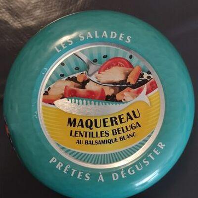 Les salades prêtes à déguster - maquereau, lentilles beluga au balsamique blanc (La belle-iloise)