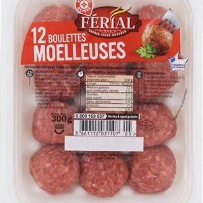 Boulettes au boeuf / porc nature x 12 (Férial)