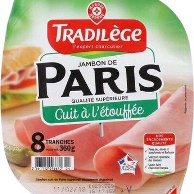 Jambon de paris cuit à l'étouffée 8 tranches (Tradilège)
