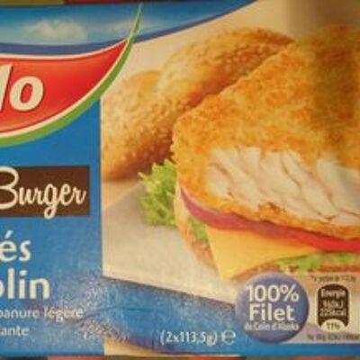 Panés de colin spécial burger (Iglo)