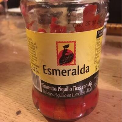 Poivrons piquilo en lamelles a l'ail (Esmeralda)