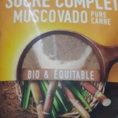 Sucre complet muscovado pure canne (Alter eco)