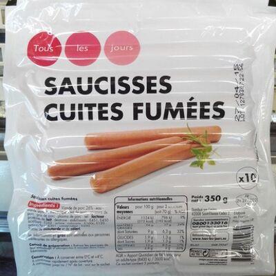 10 saucisses cuites fumées (Tous les jours)