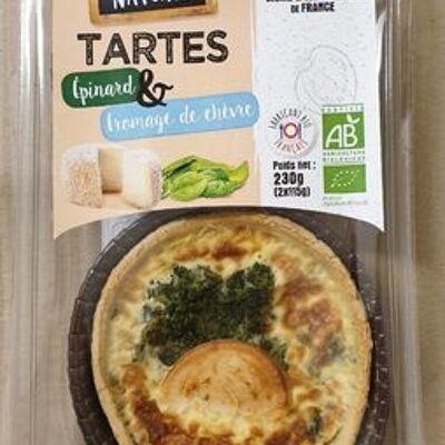 Tarte épinards & fromage de chèvre (Carte nature)