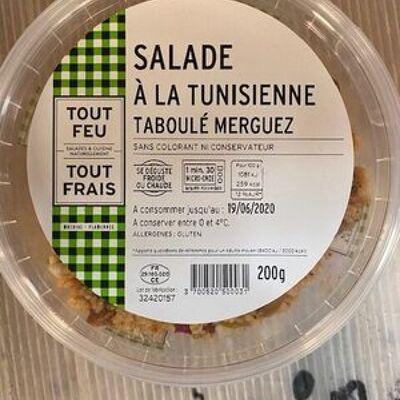 Salade tunisienne taboulé merguez (Brédial)
