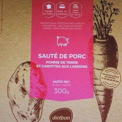 Sauté de porc, pomme de terre et carotte aux lardons (Dietbon)