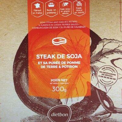 Steak de soja, purée pdt et potiron (Dietbon)