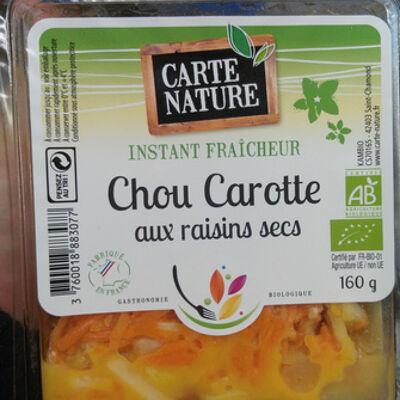 Chou carotte aux raisins secs (Carte nature)
