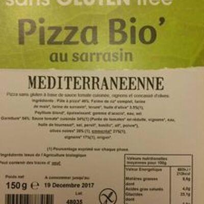 Pizza bio' au sarrasin méditerranéenne (Jardin bio)