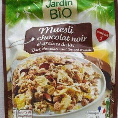 Muesli chocolat noir et graines de lin (Jardin bio)