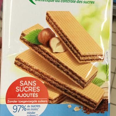 Gauffrettes cacao noisettes (Karéléa)