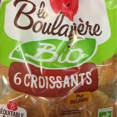 6 croissants pur beurre (La boulangère bio)