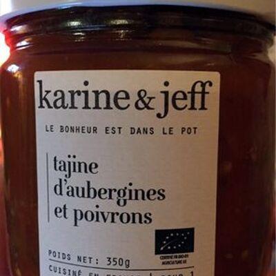 Tajine d'aubergines et poivrons (Karine & jeff)