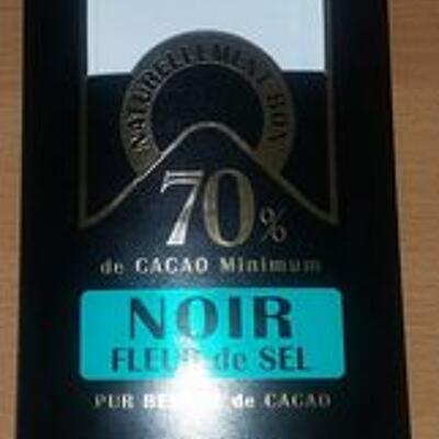 Chocolat noir fleur de sel (Chocolaterie saveurs & nature)