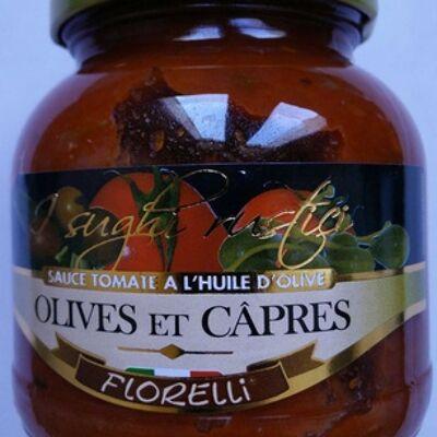 Sauce tomate à l'huile d'olive olives et câpres (Florelli)