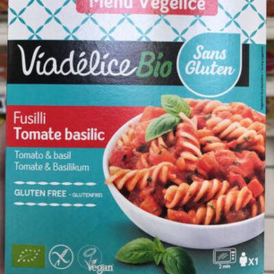 Menu végélice fusilli tomate basilic (Viadélice)