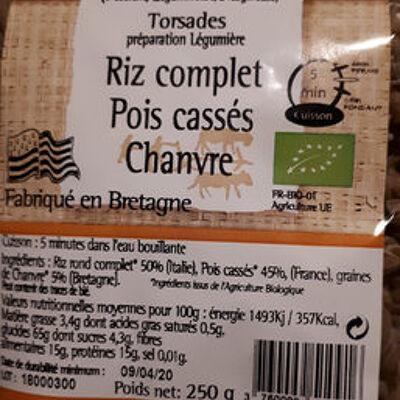 Torsades riz complet pois cassés chanvre (Celte et nature)
