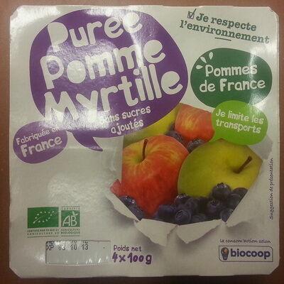 Purée pomme myrtille sans sucres ajoutés (Biocoop)