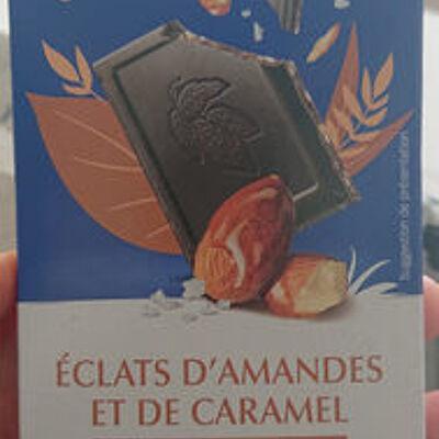 Chocolat noir éclats d'amande caramel & fleur de sel de guérande (Biocoop)