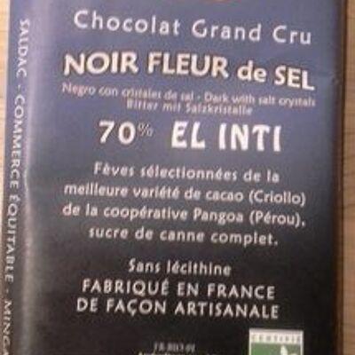 Chocolat grand cru, noir fleur de sel (Saldac)