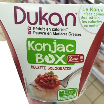 Konjac box recette bolognaise (Dukan)