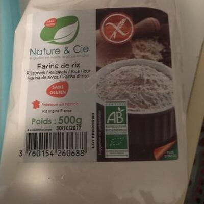 Farine de riz bio (Nature & cie)