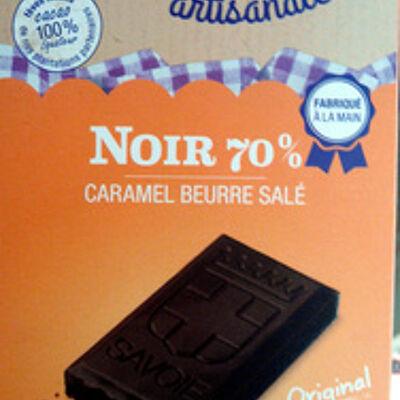 Noir 70% caramel beurre salé (Orset)