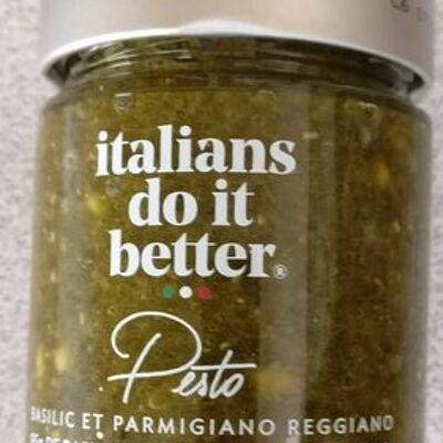 Sauce pesto basilic et parmigiano reggiano (Italians do it better)