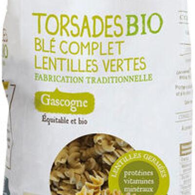 Torsades bio blé complet lentilles vertes (Paysans d'ici)