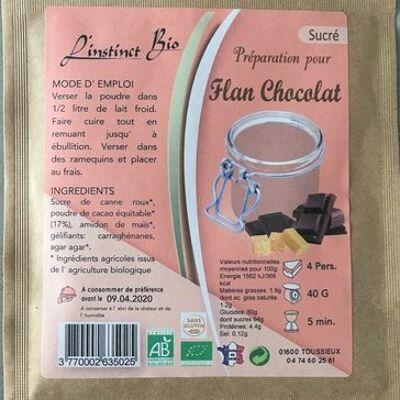 Préparation pour flan chocolat (L'instinct bio)