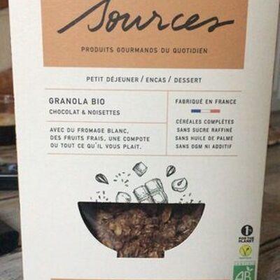 Granola bio chocolat noisette (Sources)