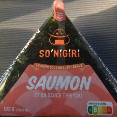Onigiri saumon et sa sauce teriyaki (So'nigiri)