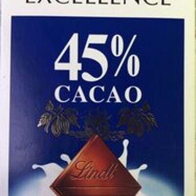 Excellence 45% cacao chocolat au lait (Lindt)