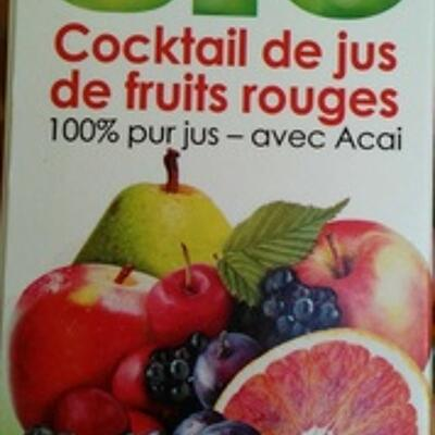 Cocktail de jus de fruits rouges 100 % pur jus (Jacoby)