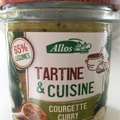 Tartine et cuisine courgette curry (Allos)